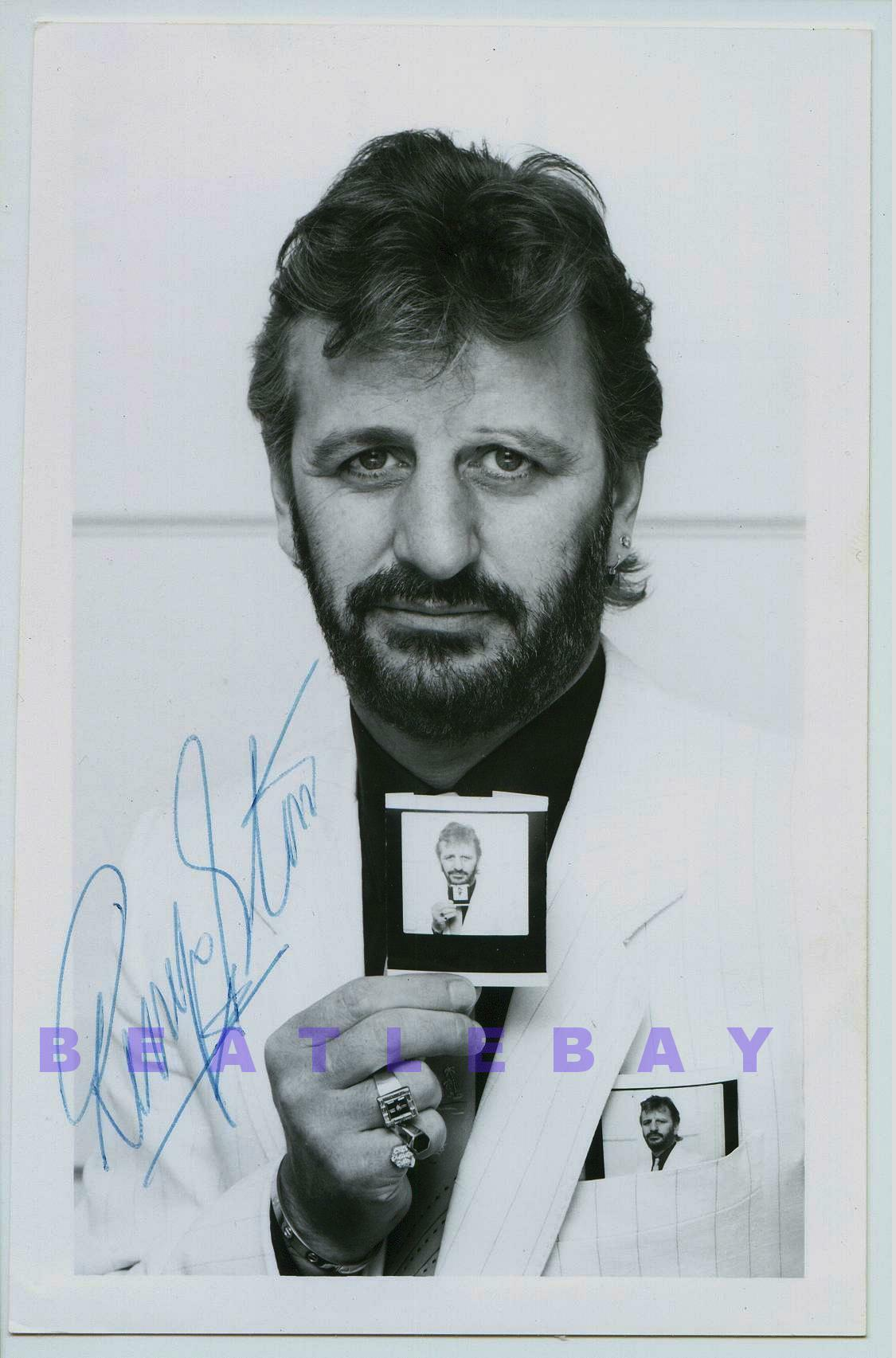 Item AT0512 A Very Nice Ringo Starr Autographed Photograph Offered Is Great Autograph That Was Signed On Black White